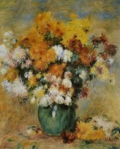 Bouquet de chrysanthèmes, Auguste Renoir
