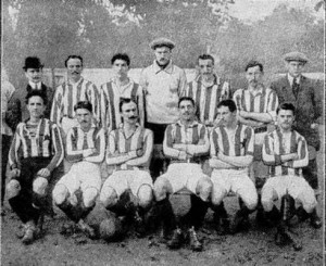 L'équipe du Red Star en 1910.