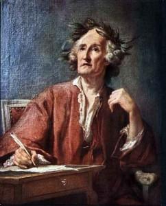 Le poète inspiré ( Jean-Bernard Restout)