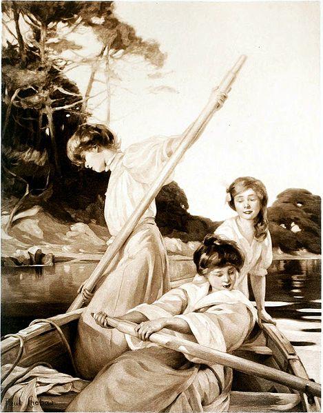 «Sur la rivière» (1908) Paul Chabas