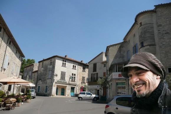 Florent Pagny, ici en visite de reconnaissance à Barjac. Photo : M.-F. C.