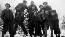 Groupe des Espagnols au camp de Verduraz