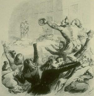 La bataille d'Hernani, 1830.